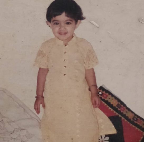 Childhood picture of Anandita Pagnis