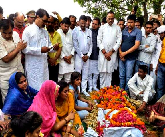 Darvesh's Mortal Remains Brought To Her Village Etah