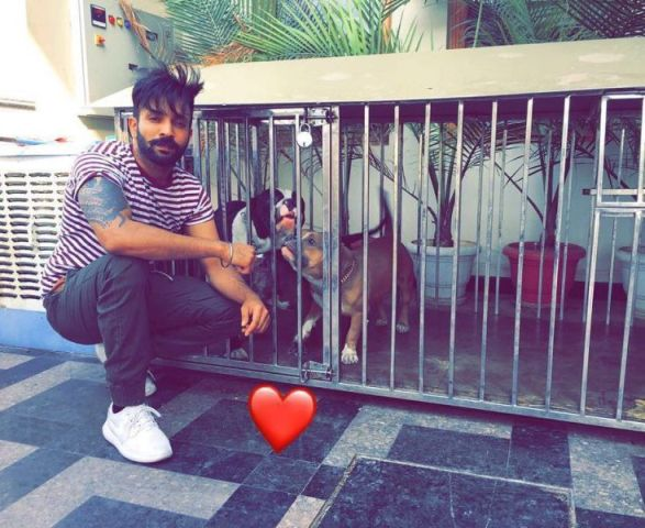 Dilpreet Dhillon with his pets