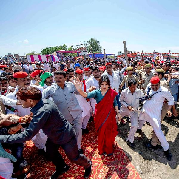 Dimple Yadav Campaigning Before Her First Election