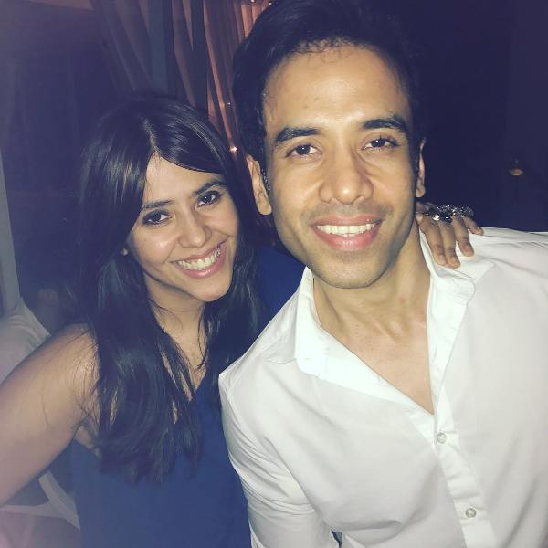 Ekta Kapoor with her brother