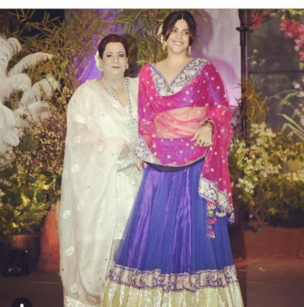 Ekta Kapoor with her mother
