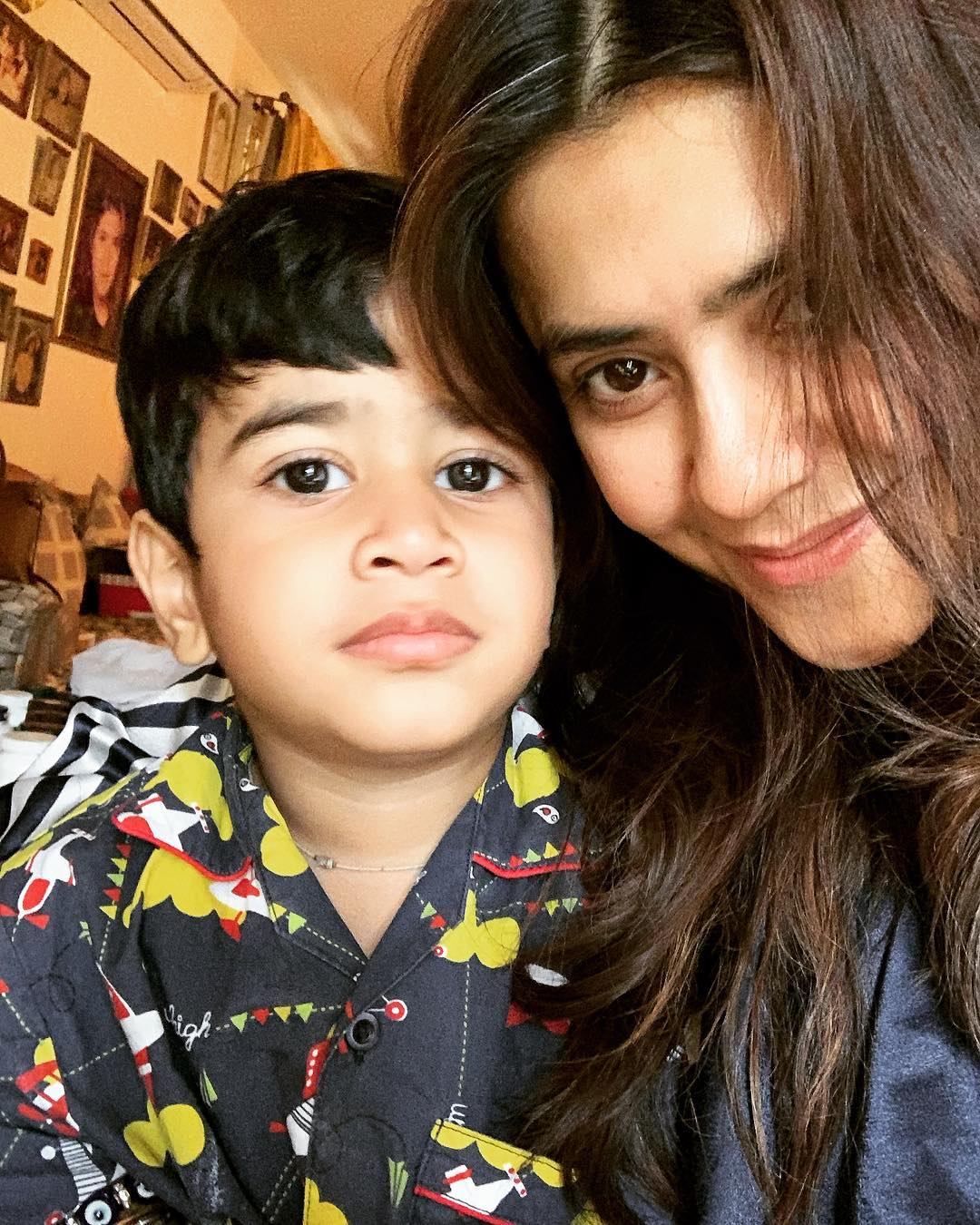 Ekta Kapoor with her nephew