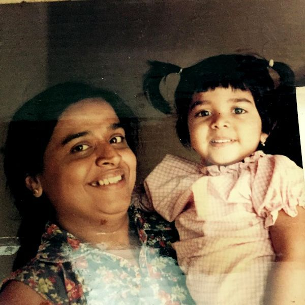 Faye D'Souza As A Toddler With Her Mother
