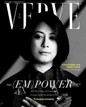 Faye D'Souza Featured On The Cover Of Verve