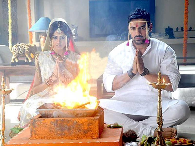 Genelia D'Souza And John Abraham's Photo From The Wedding Sequence In The Movie Force