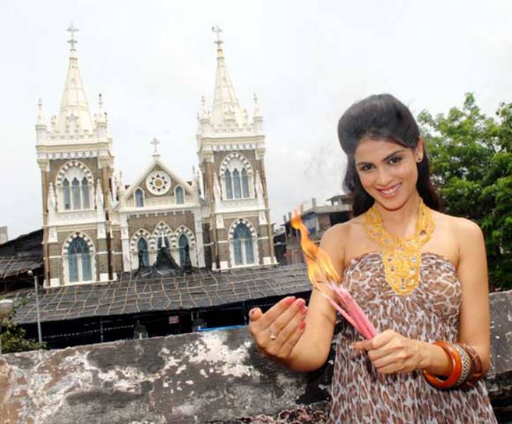 Genelia D'Souza At Church
