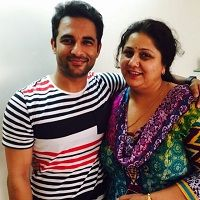 Harish Verma with his mother