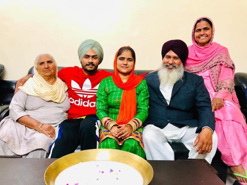 Himmat Sandhu with his family