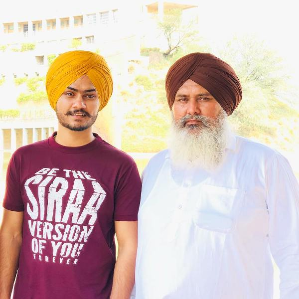 Himmat Sandhu with his father