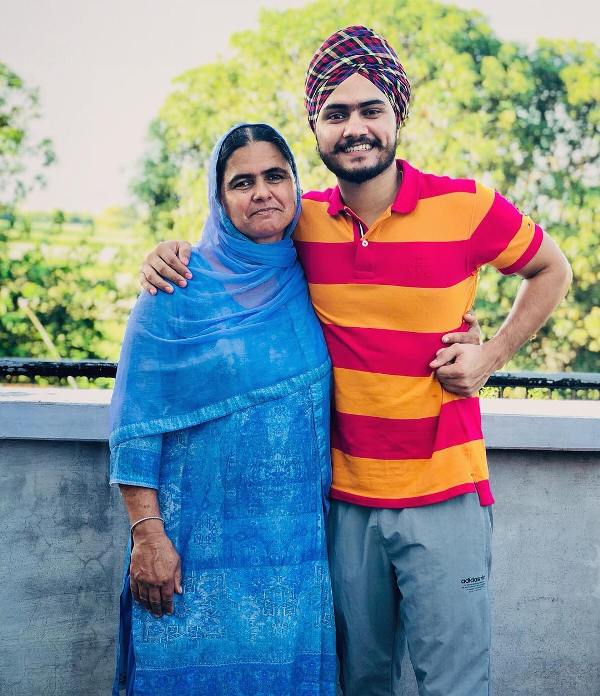 Himmat Sandhu with his mother