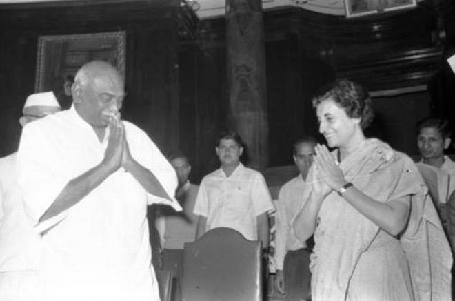 Indira Gandhi and K. Kamaraj