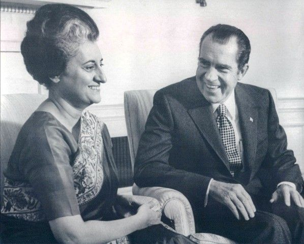 Indira Gandhi and US President Richard Nixon 1971