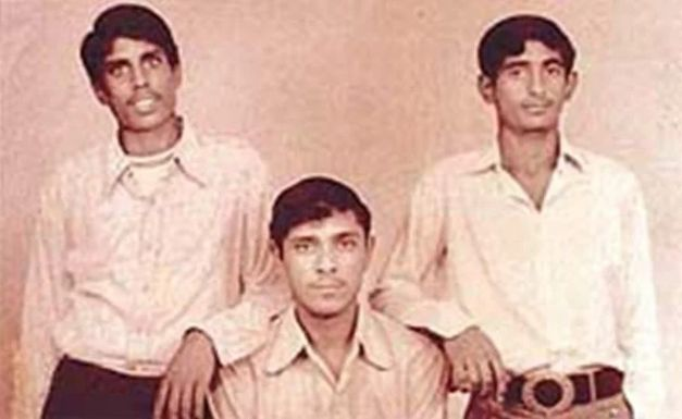 Kapil Dev (standing extreme left) with his brothers