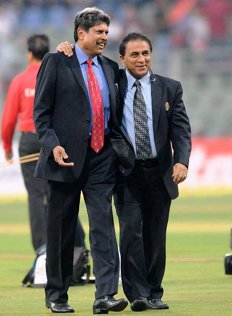 Kapil Dev with Sunil Gavaskar