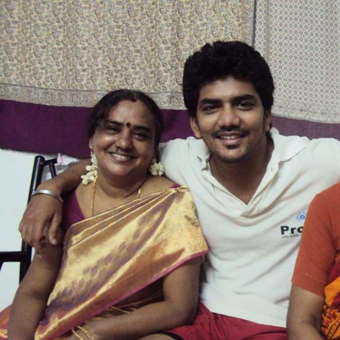 Kavin with his mother