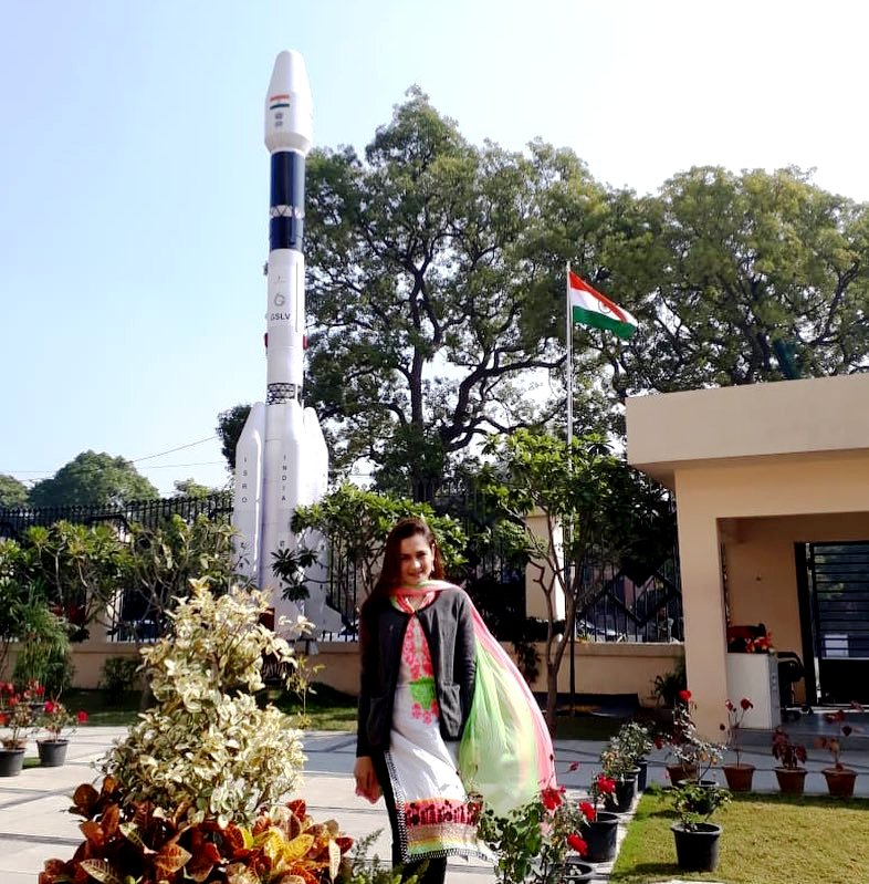 Khushboo Mirza Present In Sriharikota Before The Launch Of Chandrayaan 2