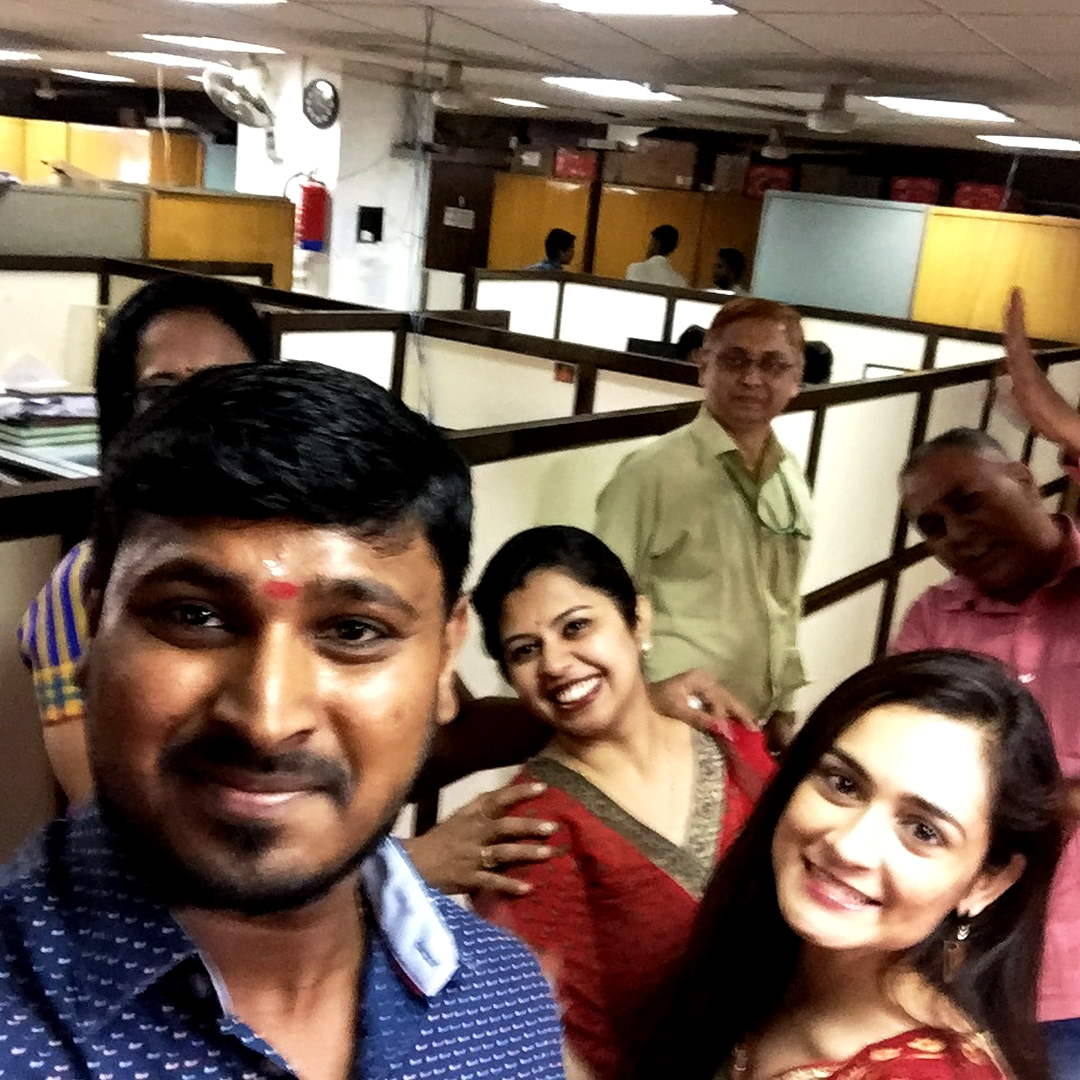 Khushboo Mirza With Her Colleagues After The Launch Of The Chandrayaan