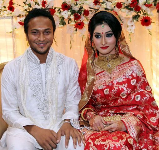 Marriage photo of Shakib Al Hasan and Umme Ahmed Shishir