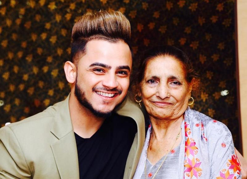 Millind Gaba with his maternal grandmother