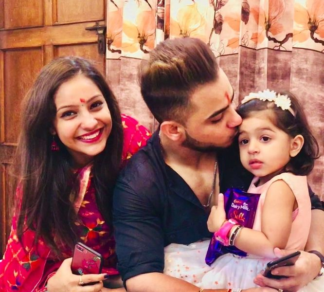 Millind Gaba with his sister