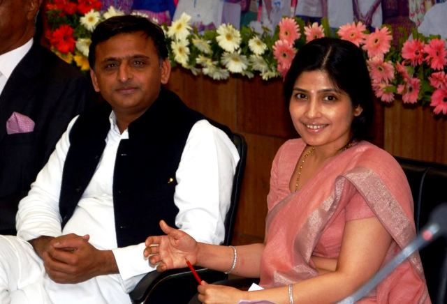Mulayam Singh's Elder Son Akhilesh Yadav & Daughter-In-Law Dimple Yadav