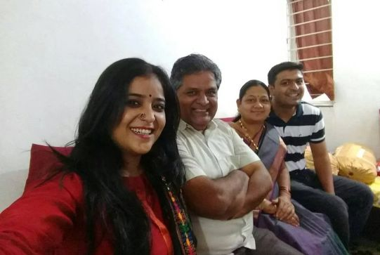 Neha Shitole with her family