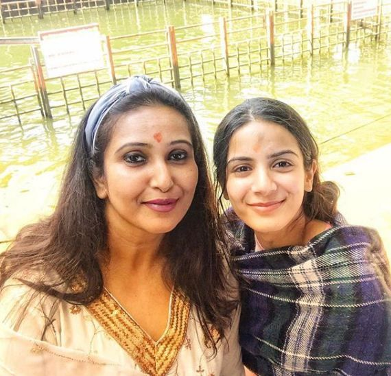 Nikki Sharma with her mother