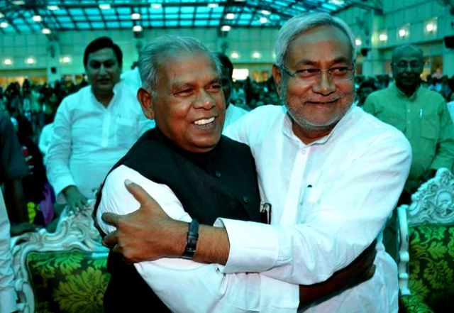 Nitish Kumar With Jitan Ram Manjhi
