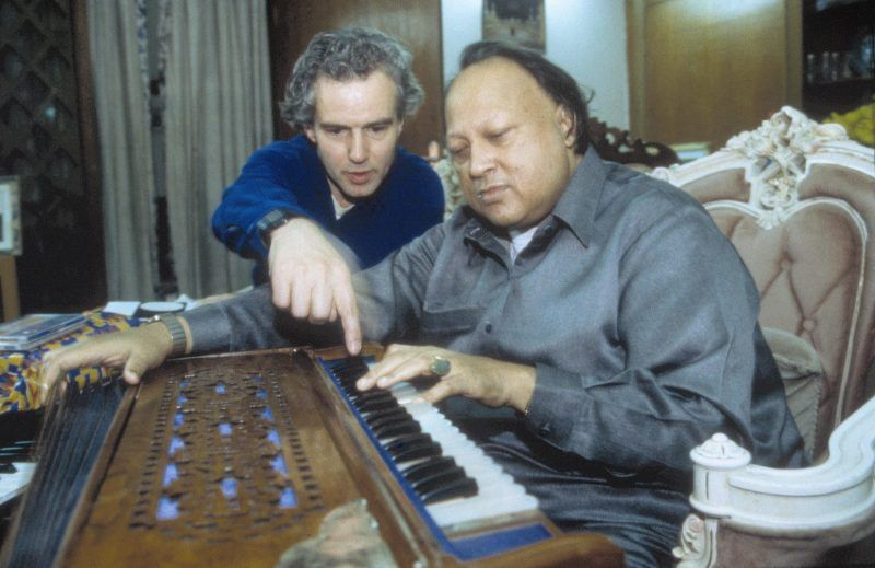 Nusrat Fateh Ali Khan Composing With Michael Brook Through The Record Label, Real World