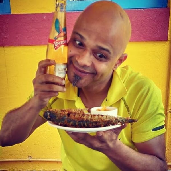 Parag Kanhere With A Bottle of Beer