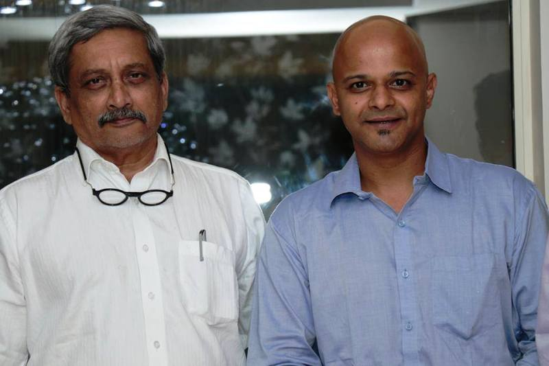 Parag Kanhere With Manohar Parrikar