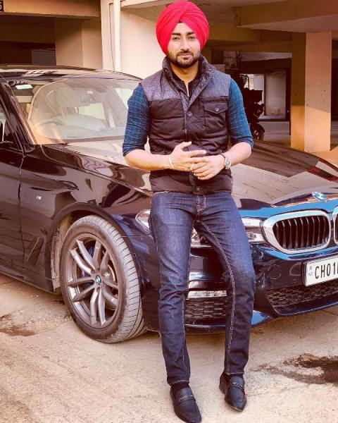 Ranjit Bawa with his BMW
