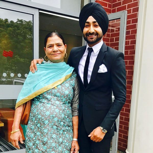 Ranjit Bawa with his mother