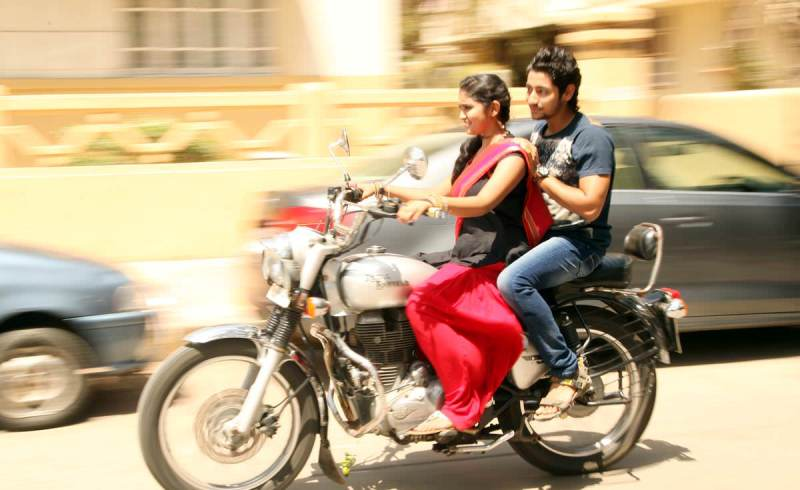 Rinku Rajguru Riding A Bullet In Sairat