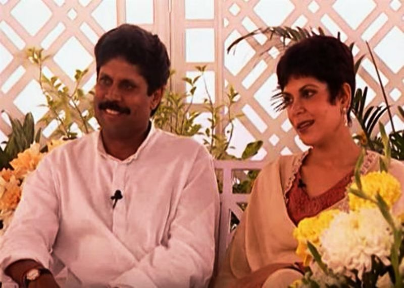 Romi Bhatia with Kapil Dev in Rendezvous with Simi Garewal
