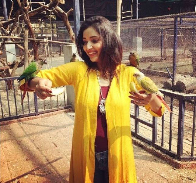 Rupali Bhosale Playing With Birds