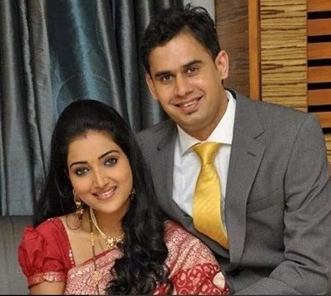 Rupali Bhosale With Her Husband