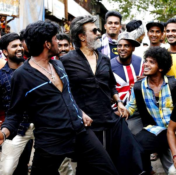 Sandy With Rajinikanth On The Sets Of Kaala