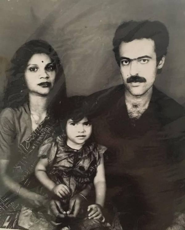 Sherin With Her Parents
