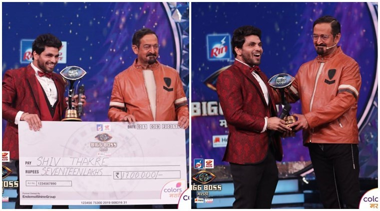 Shiv Thakare as the winner of Big Boss Marathi 2