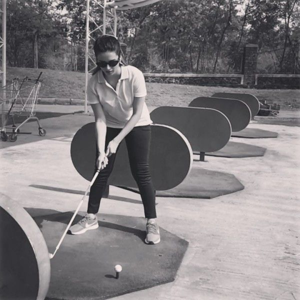 Shivani Surve playing Golf