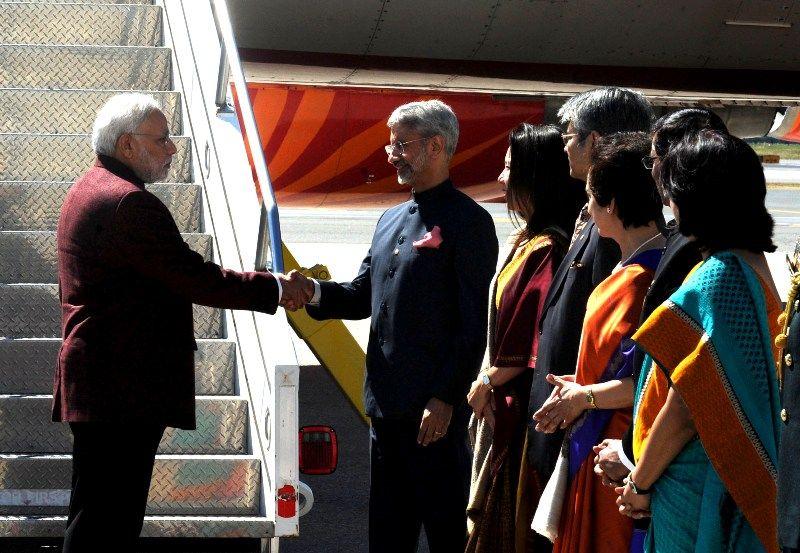 Subrahmanyam Jaishankar Welcoming Modi On His Maiden US Visit As PM