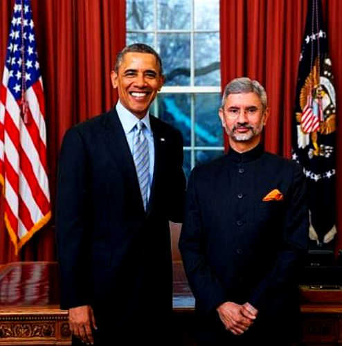 Subrahmanyam Jaishankar With Barack Obama
