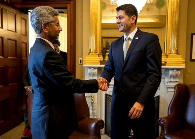 Subrahmanyam Jaishankar With The Speaker Of The US Congress