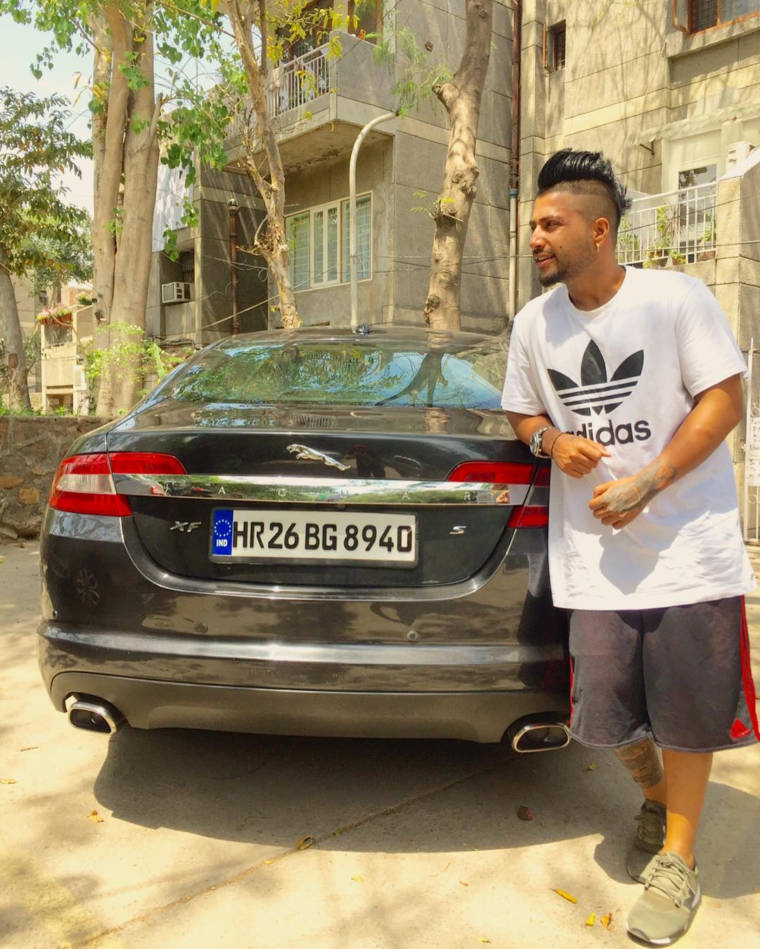 Sukhe with his Jaguar