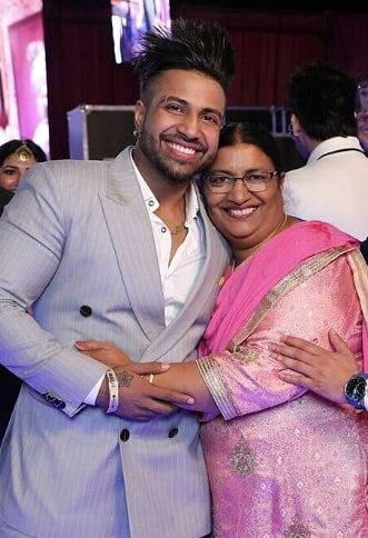 Sukhe with his mother