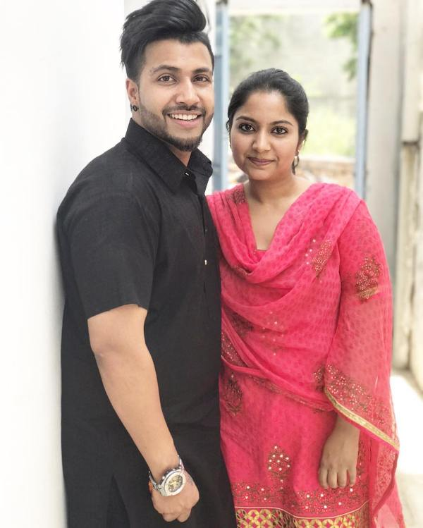 Sukhe with his sister