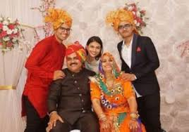 Suman Rao with her parents and siblings