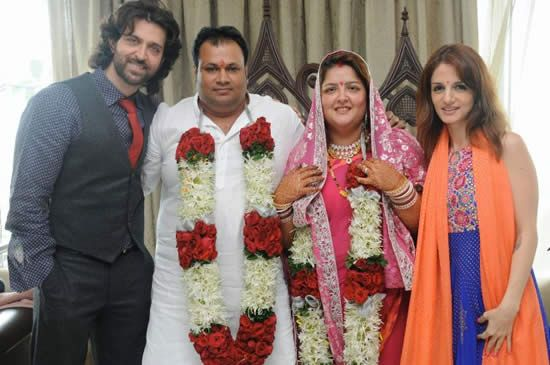 Sunaina Roshan wedding picture with Mohan Nagar